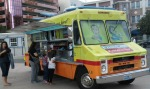 The Gourmelt food truck arrived, selling a variety of snacks including grilled-cheese sandwiches and sweet potato fries.
