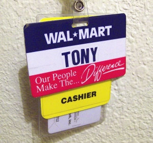 While working at Wal-Mart, I took on the name Tony. For me, changing my name liberated me from much of my toxic past.