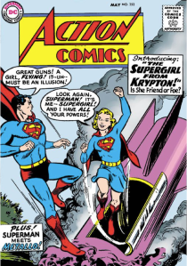 Action Comics #252 (1959) introduced Supergirl. Courtesy DC Comics.