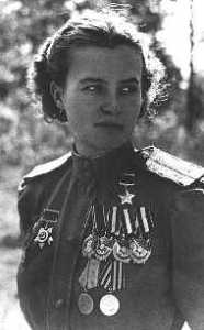 As part of the 588th Night Bomber Regiment, Soviet pilot Irina Sebrova engaged in more than 1,000 bombing sorties against the Germans during World War II.